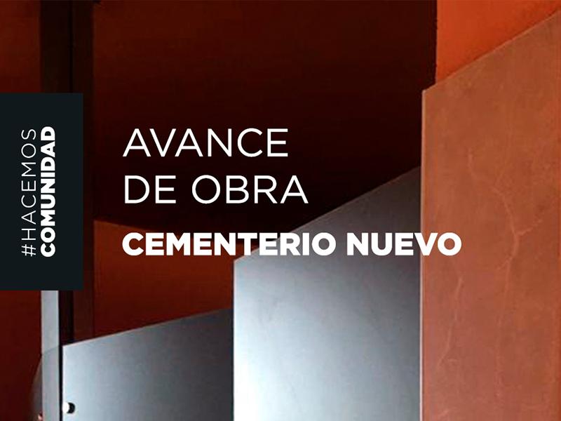 Avance de obras en el Cementerio Nuevo