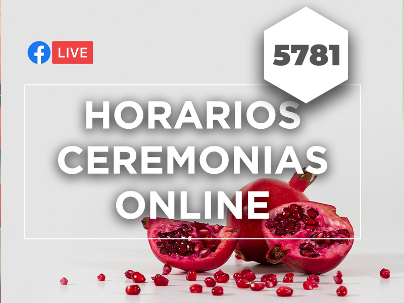 ROSH HASHANÁ 5781 - ceremonias online