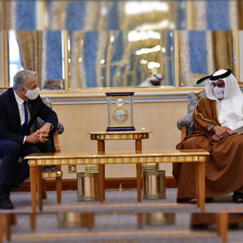 Histórico encuentro entre Lapid y el rey de Bahrein en Manama