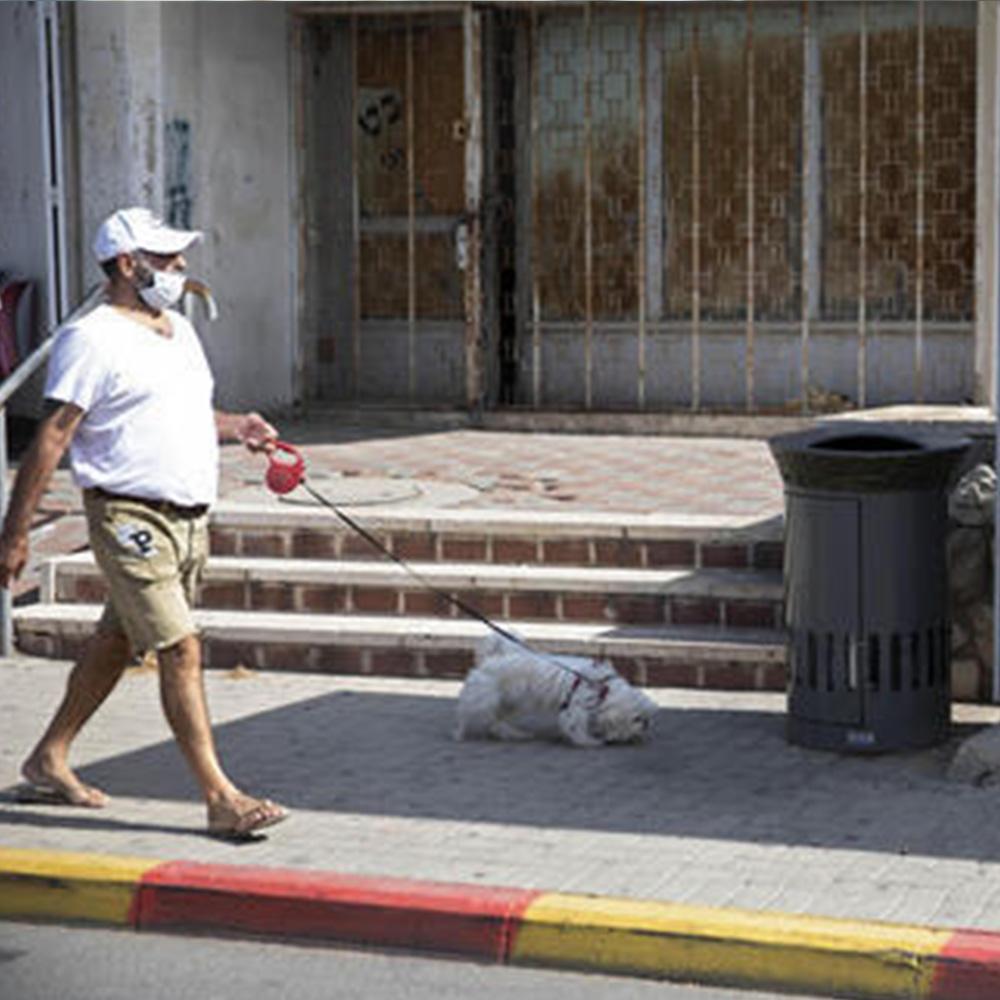 Los nuevos cestos de basura de Jerusalem que agradecen cuando alguien los usa