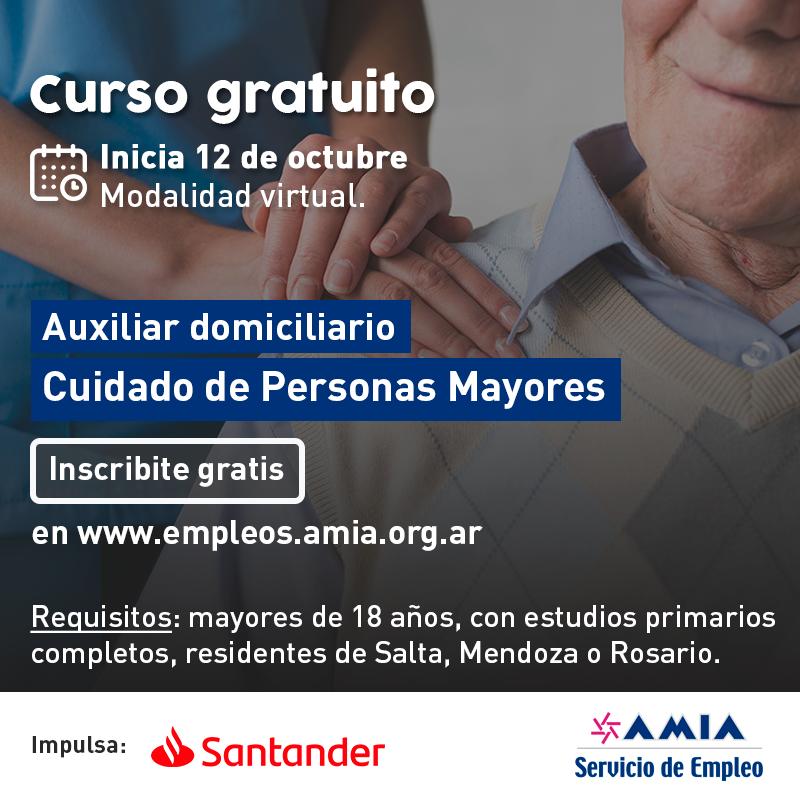 Convocatoria: curso gratuito de Auxiliar en el Cuidado de Personas Mayores