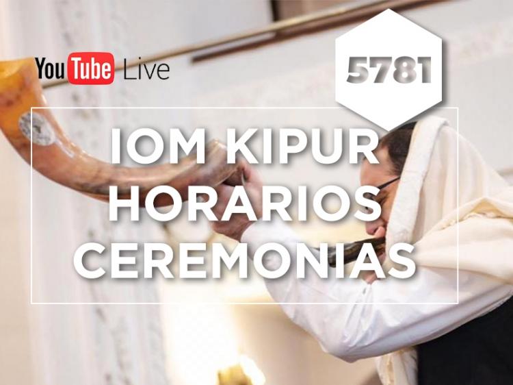 IOM KIPUR 5781 - ceremonias online