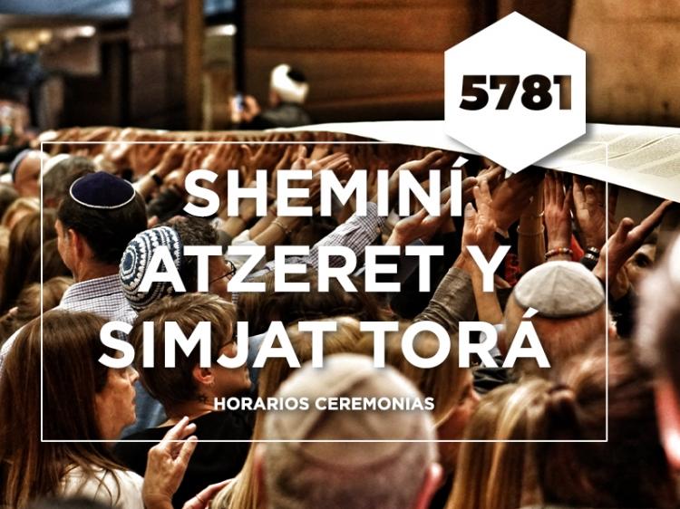SHEMINÍ ATZERET Y SIMJAT TORÁ - ceremonias online