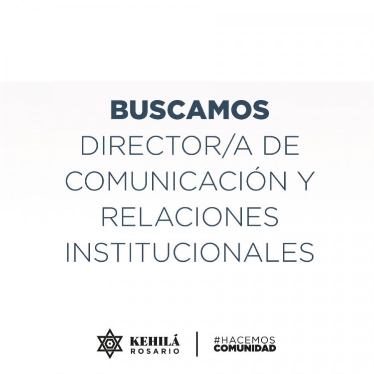 Director/a de Comunicación y Relaciones Institucionales
